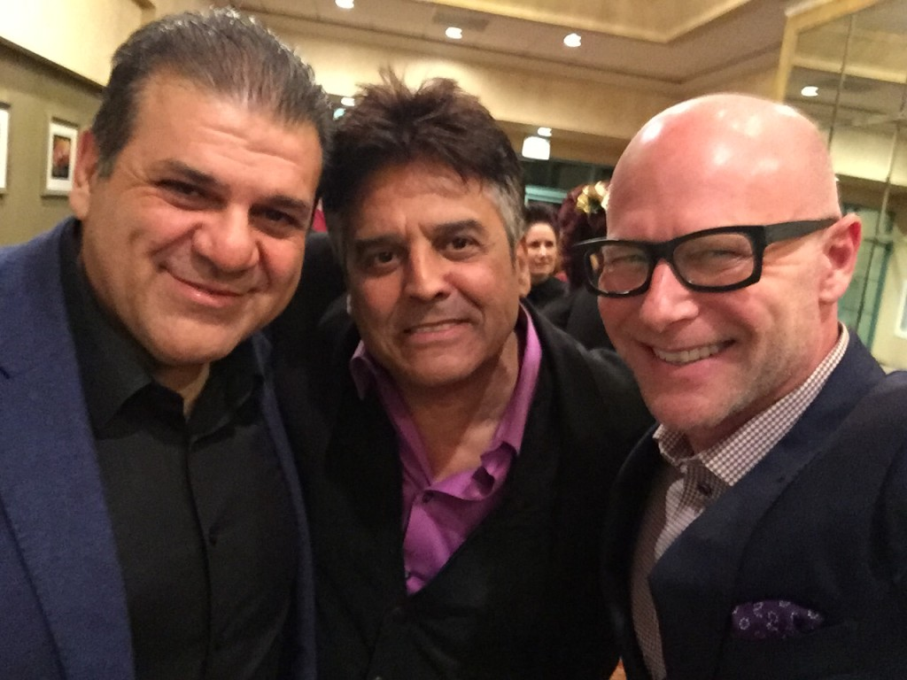 Darren Kavinoky and Erik Estrada at CHP Christmas Party December 2015