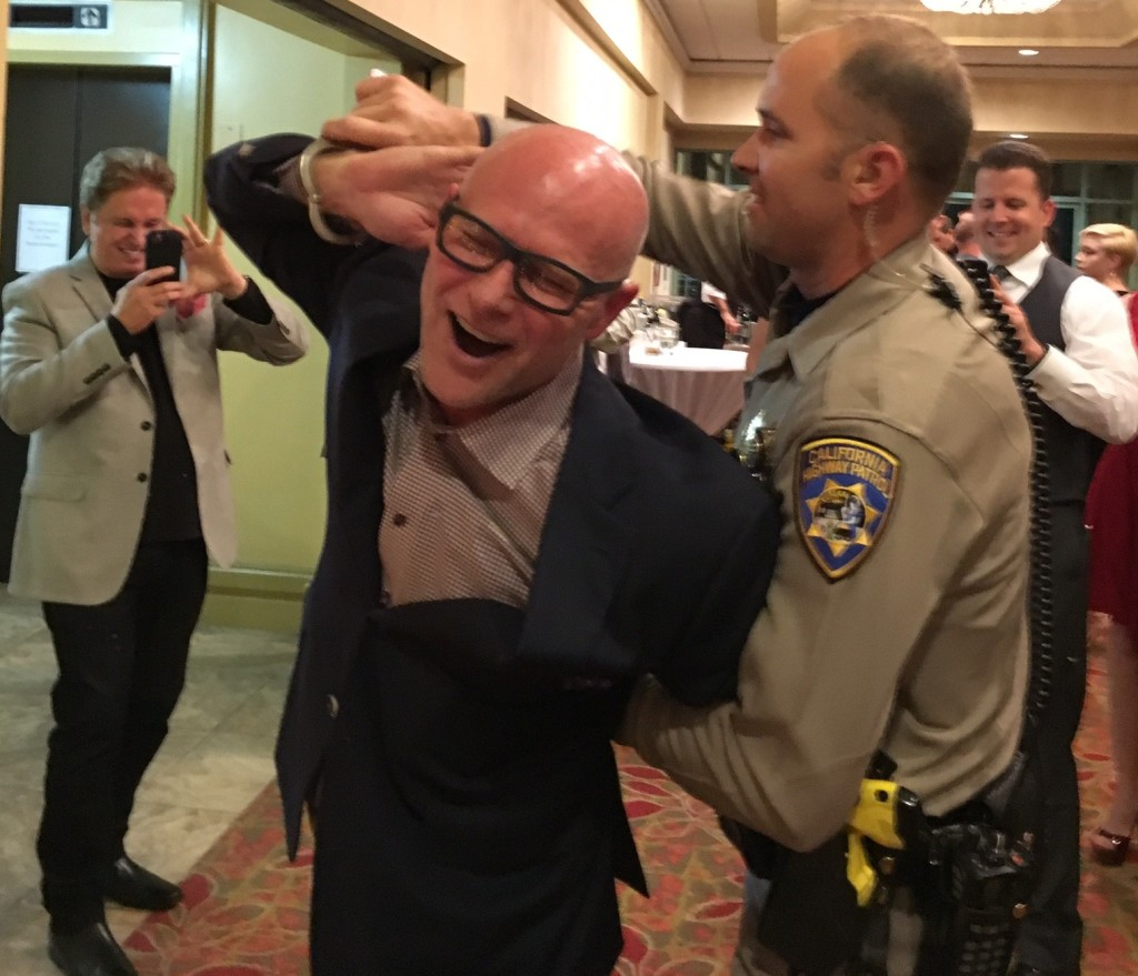"Darren Kavinoky at CHP Christmas Party, ""Getting Arrested"" December 2015"