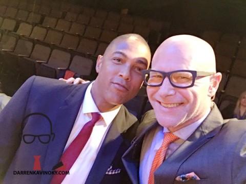 Don Lemon and Darren Kavinoky on set at CNN