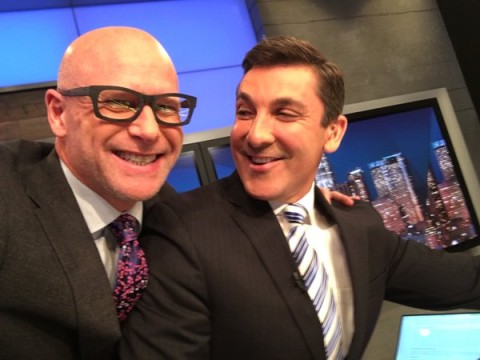 Darren Kavinoky and John Vause on set CNN International, March 7, 2016