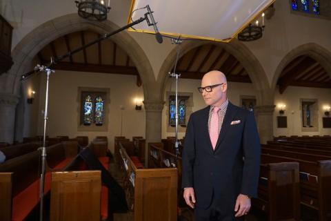 Darren Kavinoky behind the scenes on set of Deadly Sins