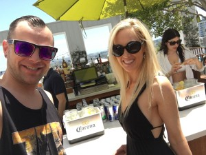 Justin Hays and Nicole Hanratty at Corona Electric Beach Skybar Mondrian LA May 22, 2016