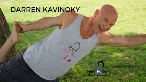 Join 1.800.NoCuffs and Darren Kavinoky for International Yoga Day and #strikeapose