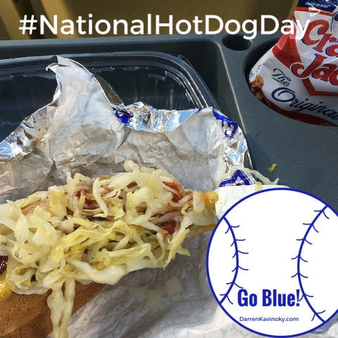 National Hot Dog Day #NationalHotDogDay Darren Kavinoky Dodger Dog 2016