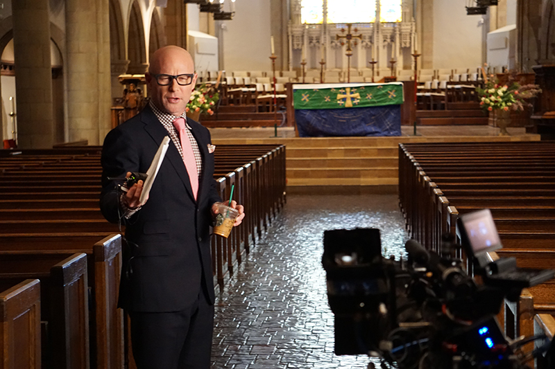 Darren Kavinoky behind the scenes Deadly Sins set 2016 Season 5