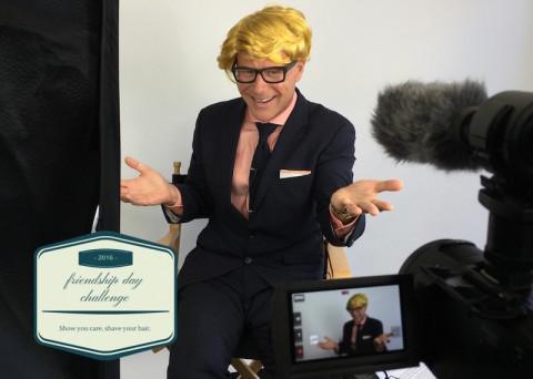 Darren Kavinoky's #FriendshipDayChallenge donate your hair for Friendship Day August 7th