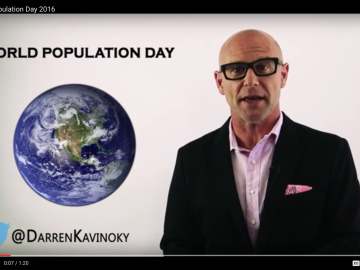 World Population Day 2016 with 1.800.NoCuffs Darren Kavinoky