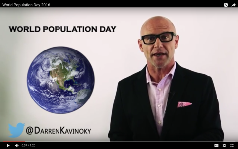 Darren Kavinoky on World Population Day July 11 2016