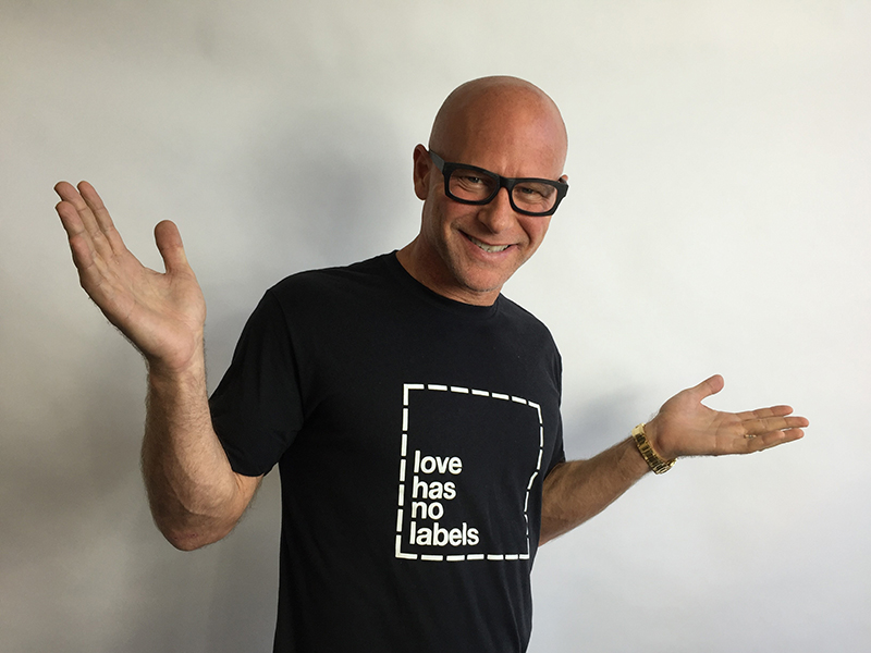 Thank you to the Ad Council for sending this cool Love Has No Labels tee to Darren Kavinoky