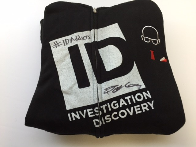 Investigation Discovery autographed sweatshirt Darren Kavinoky giveaway