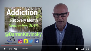 Addiction Recovery Free Event October 1st featuring Darren Kavinoky by Many Paths One Destination